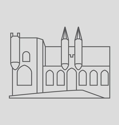 Papal palace avignon vector