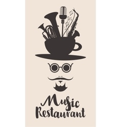 banner for music restaurant vector image vector image