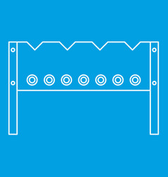 bbq brazier icon outline style vector image vector image