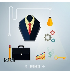 Business concept Tools interier online documents vector image vector image