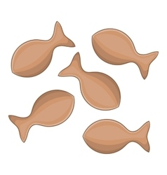 Cat dry food icon cartoon style vector