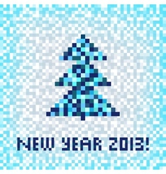 christmas winter pixel art seamless pattern vector image vector image