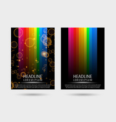 Colorful strired covers template vector