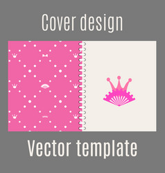 cover design with pink princess pattern vector image