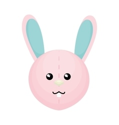 Cute rabbit character isolated vector