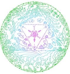 Elements mandala vector