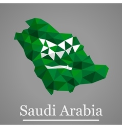 Geometric map of Saudi Arabia vector image
