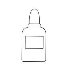 glue bottle utensil school tool icon vector image vector image