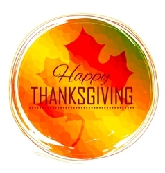 Happy Thanksgiving celebration background with vector image vector image