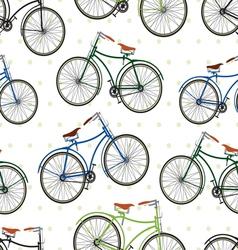 Hipster bike patern saren vector