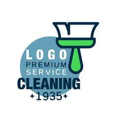 House cleaning and maid service logo design with vector