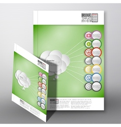 Infographic with colored circles brochure flyer vector