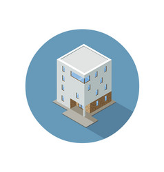 Isometric modern architecture building vector