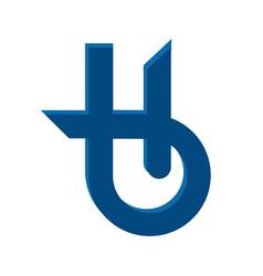 Letter h holistic health center logo design vector