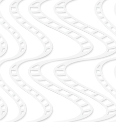 Paper white striped uneven waves vector
