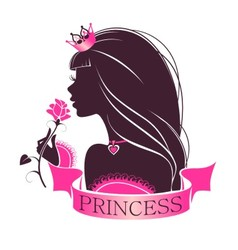 Portrait of a Princess with rose vector image vector image