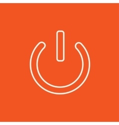 Power button line icon vector image vector image
