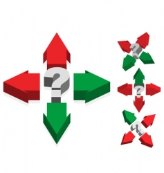 question mark and arrows vector image