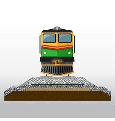 Railroad pavement layers vector