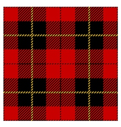 Red seamless tartan plaid design vector