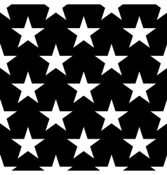 Stars seamless pattern big white vector image vector image