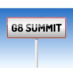Traffic board summit g8 vector
