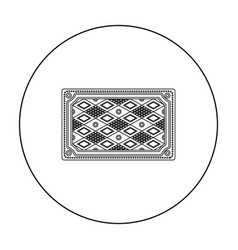Turkish carpet icon in outline style isolated on vector