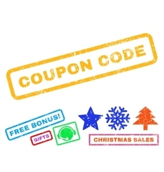 Coupon code rubber stamp vector