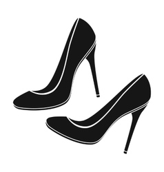 Shoes with stiletto heel icon in black style vector image