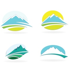 Mountain icons vector