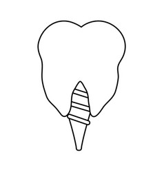 Tooth crown dental care related icon image vector