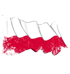 Poland national flag grunge vector