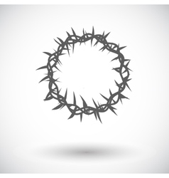 Crown of thorns single icon vector