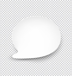 White rounded paper speech bubble vector