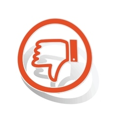 Dislike sign sticker orange vector