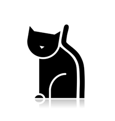 Black cat silhouette for your design vector