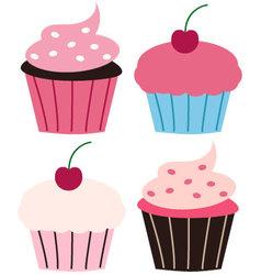Fun cupcakes vector