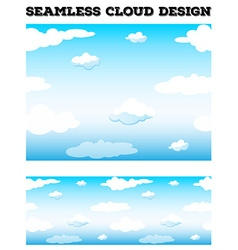 Seamless blue sky with fluffy clouds vector
