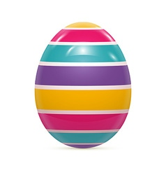 Easter egg witnh pattern isolated on white vector