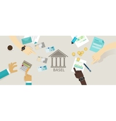 Basel accord committee on banking supervision vector