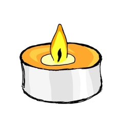 aromatic candle vector image vector image