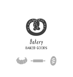 Bakery logo template vector
