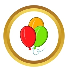 Balloons icon cartoon style vector