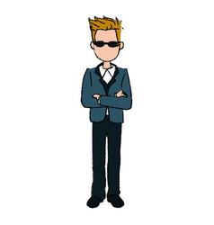 Business man cartoon standing people employee vector