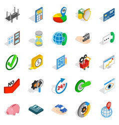 Concept icons set isometric style vector