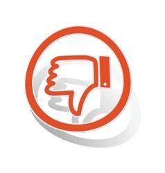 Dislike sign sticker orange vector