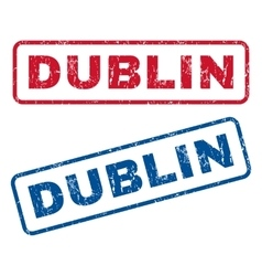 Dublin rubber stamps vector