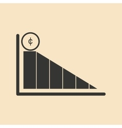 Flat in black and white business graph vector
