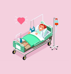 foot cast olthopedics patient isometric people vector image