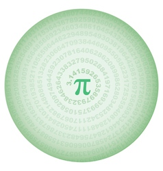 Green circle with number pi vector